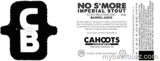 Cahoots Barrel Aged No S'mores Beer