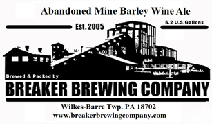 Breaker Abandoned Mine Barley Wine beer Label Full Size