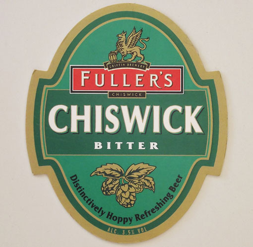 Fullers Chiswick Bitter beer Label Full Size