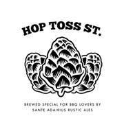 Sante Adairius Hop Toss St. beer Label Full Size