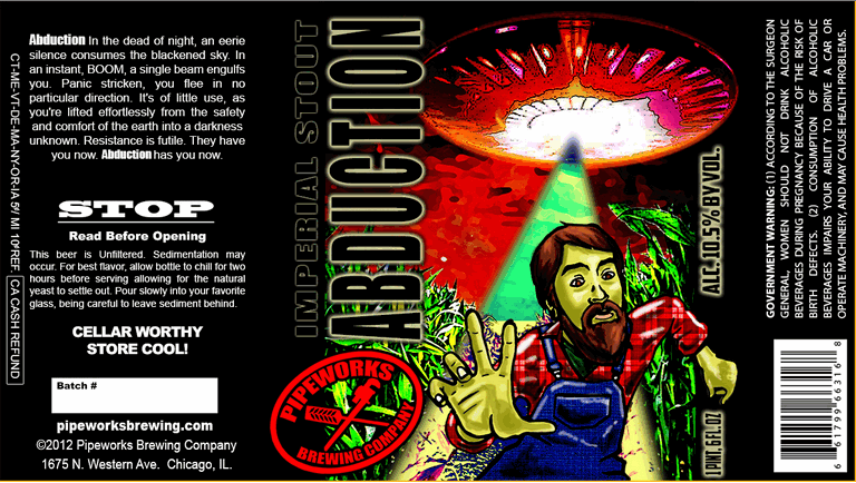 Pipeworks Mocha Abduction beer Label Full Size