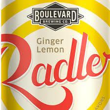 Boulevard Ginger-Lemon Radler beer Label Full Size