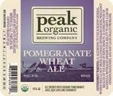 Peak Organic Pomegranate Wheat beer