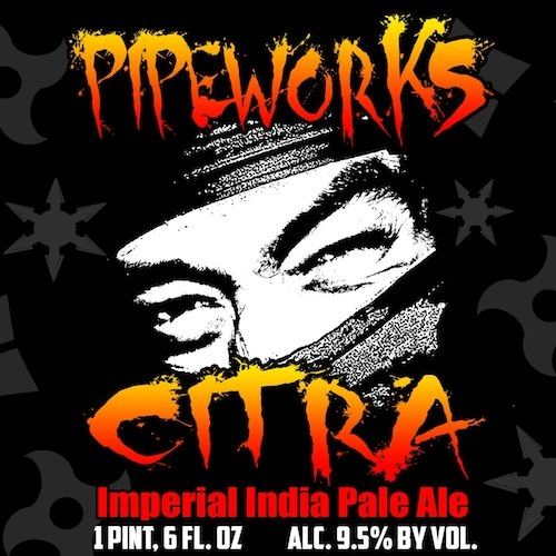 Pipeworks Citra Imperial IPA beer Label Full Size