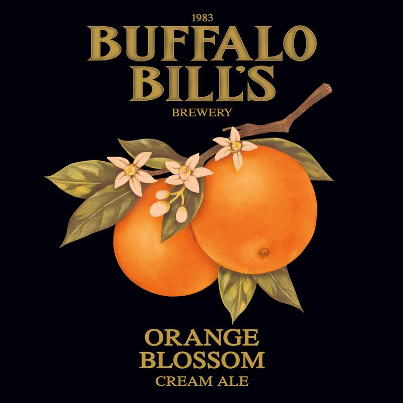 Buffalo Bill's Orange Blossom Cream Ale beer Label Full Size
