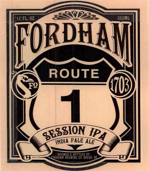 Fordham Route 1 beer Label Full Size