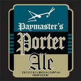 Cricket Hill Paymasters Porter beer