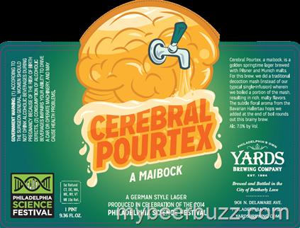 Yards Cerebral Pourtex beer Label Full Size