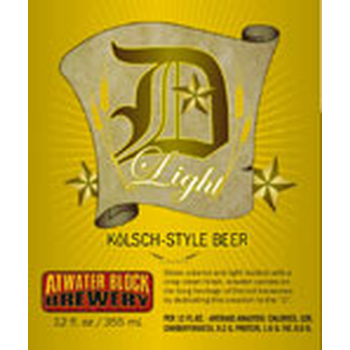 Atwater D Light Kolsch beer Label Full Size