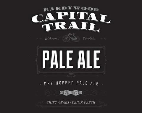 Hardywood Capital Trail Pale Ale beer Label Full Size