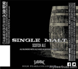 Saranac Single Malt beer