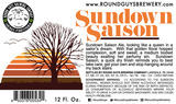 Round Guys Sundown Saison Beer