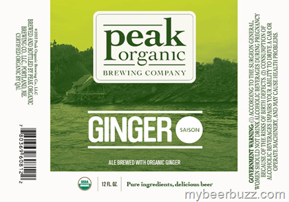 Peak Organic Ginger Saison beer Label Full Size
