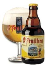 St. Feuillien Blonde beer Label Full Size
