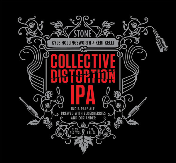 Stone Collective Distortion IPA beer Label Full Size