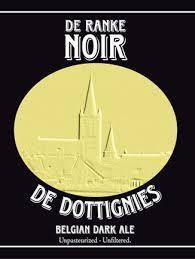 De Ranke Noir De Dottignies beer Label Full Size