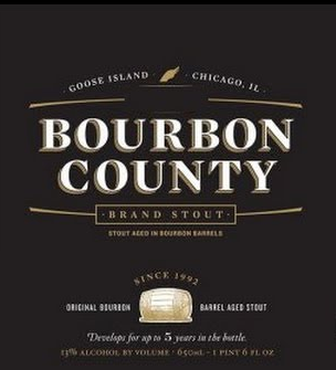 Goose Island Bourbon County Stout beer Label Full Size