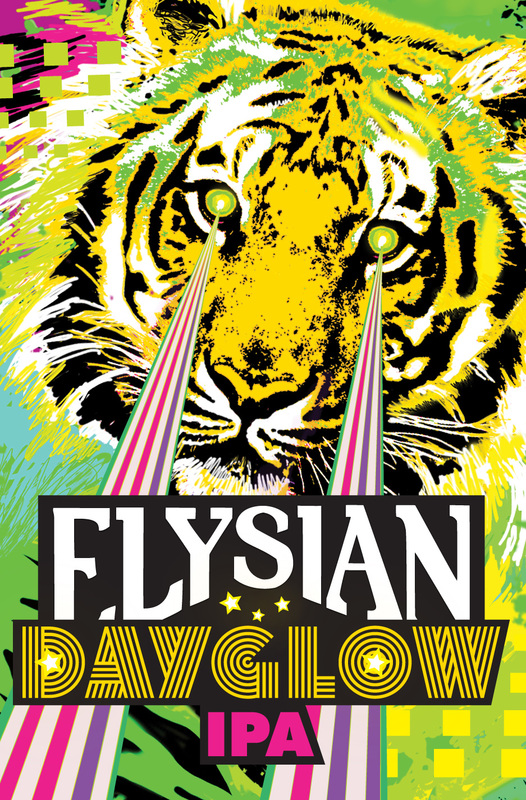 Elysian Dayglow beer Label Full Size