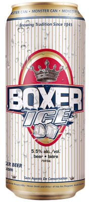 Boxer Ice beer Label Full Size