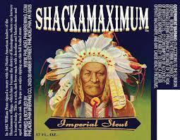 Philadelphia Shackamaximum Stout beer Label Full Size