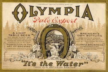 Olympia beer Label Full Size