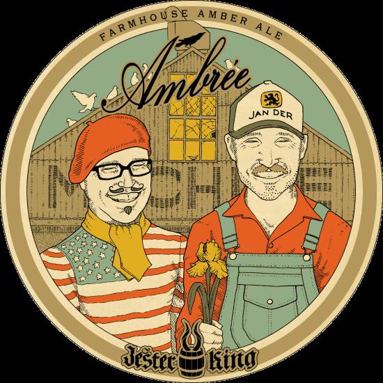 Jester King Ambrée beer Label Full Size