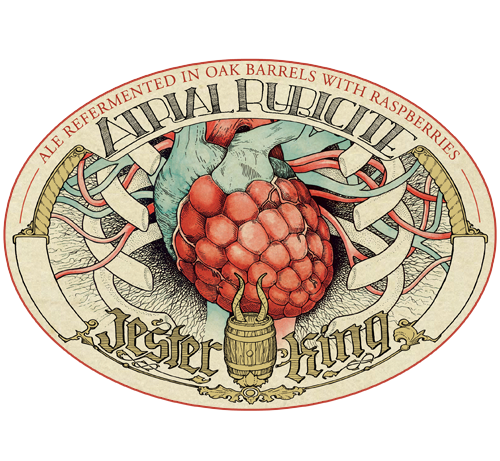 Jester King Atrial Rubicite beer Label Full Size