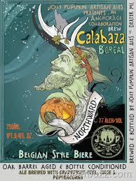 Jolly Pumpkin/Anchorage Calabaza Boreal beer Label Full Size