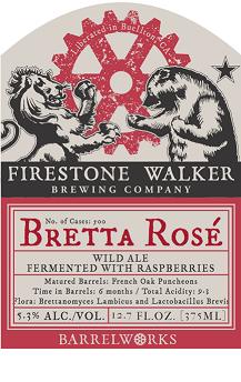 Firestone Walker Bretta Rose beer Label Full Size