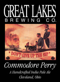 Great Lakes Commodore Perry IPA beer Label Full Size