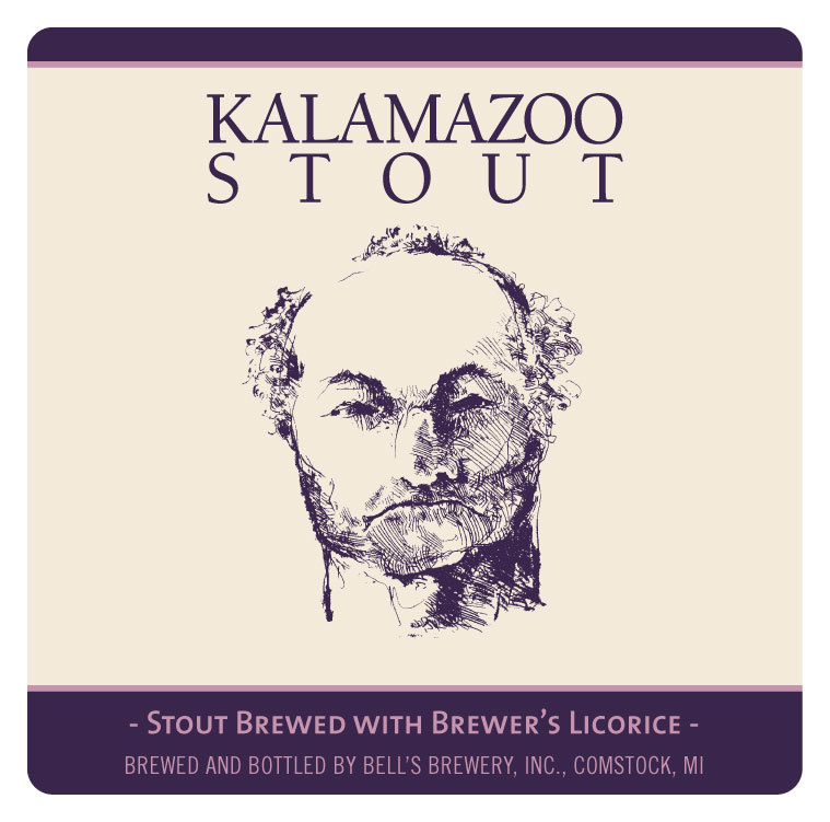 Bell's Kalamazoo Stout beer Label Full Size