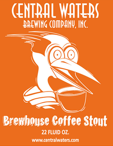 Central Waters Coffee Stout beer Label Full Size