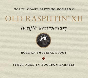 North Coast Old Rasputin 12 beer Label Full Size