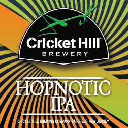 Cricket Hill Hopnotic IPA beer Label Full Size