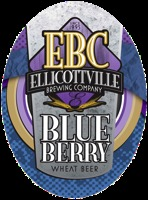 Ellicottville Blueberry Wheat beer Label Full Size