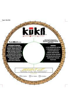 Kuka Belgian Wit beer Label Full Size
