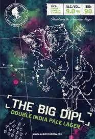 Sudwerk The Big DIPL beer Label Full Size
