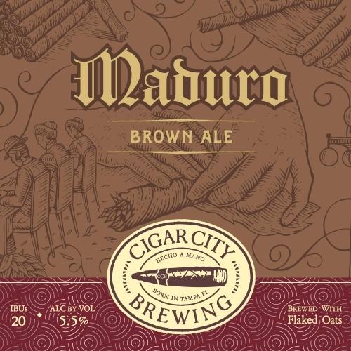 Cigar City Maduro beer Label Full Size