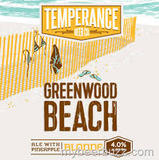 Temperance Greenwood Beach Blonde beer