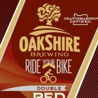 Oakshire Ride Your Bike Double Red Ale beer Label Full Size