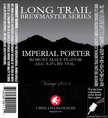 Long Trail Imperial Porter beer Label Full Size
