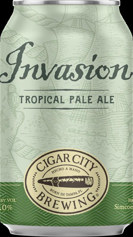 Cigar City Invasion beer Label Full Size