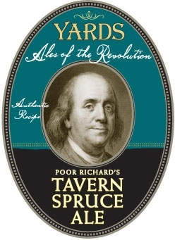 Yards Poor Richard's Tavern Spruce Ale beer Label Full Size