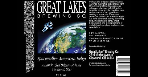 Great Lakes Spacewalker beer Label Full Size