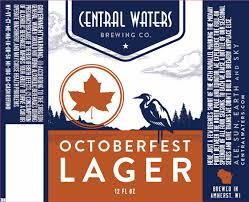 Central Waters Octoberfest beer Label Full Size