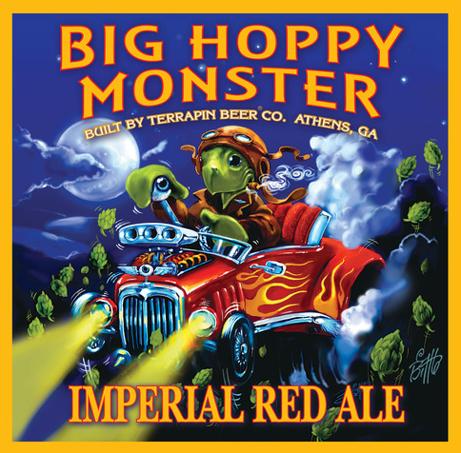Terrapin Big Sloppy Monster beer Label Full Size