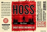 Great Divide Hoss Rye Lager Beer