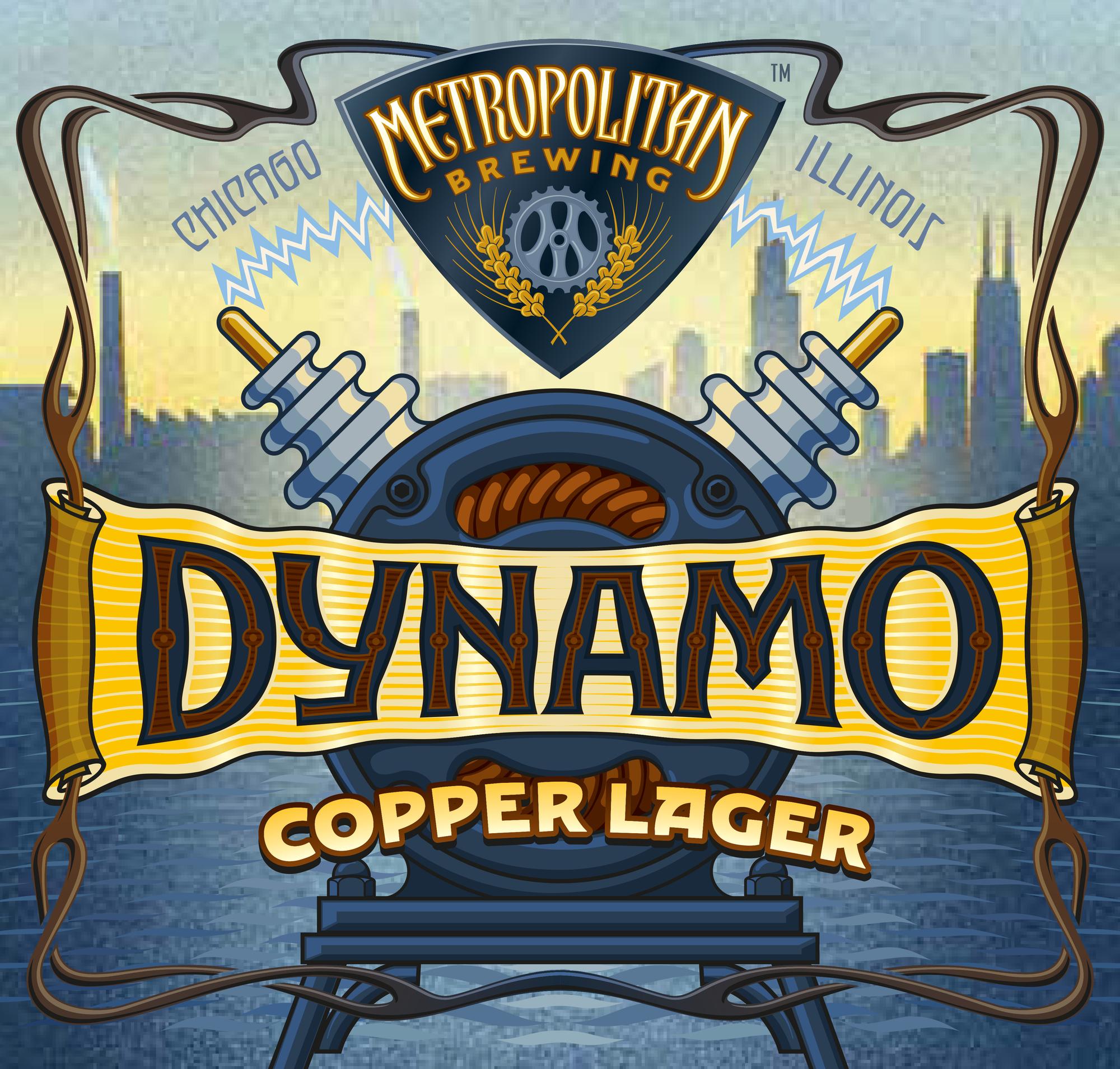 Metropolitan Dynamo Copper beer Label Full Size