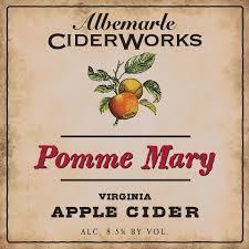 Albemarle Ciderworks Pomme Mary beer Label Full Size