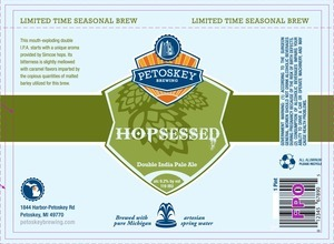 Petoskey Hopsessed beer Label Full Size